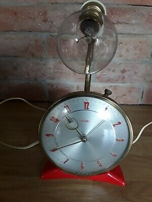 Vintage/ retro Metamec Bedside Alarm Clock With Lamp