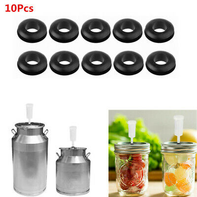 10 Pcs Black Sealing Washers Grommet For Fermentation Airlock Lid Wine Making