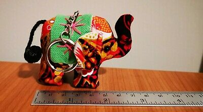 Thai Elephant Cotton Keyring Chain Handmade Gifts Souvenir New and Never Used