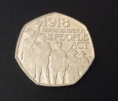 50p Coin 2018 Representation Of The People Act FREEPOST