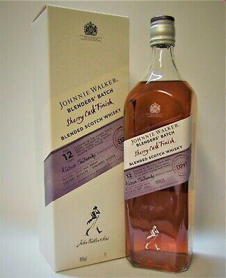 1xJOHNNIE WALKER ♦ BLENDERS' BATCH 12 Y. OLD ♦ SHERRY CASK FINISH ♦ 1L. EXP # 7