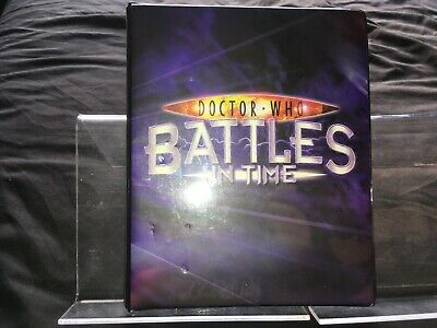Dr Doctor Who BATTLES IN TIME Small Album Binder Folder - holds up to 80 cards