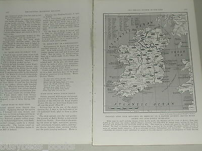 1940 magazine article about Ireland, history, people, color photos, Eire