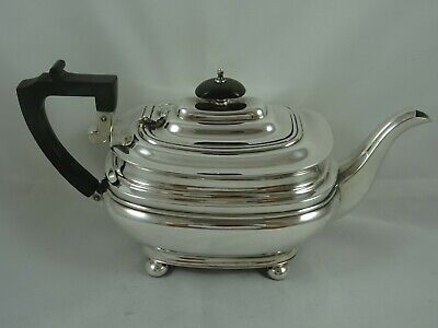 QUALITY solid silver TEA POT, 1979, 720gm