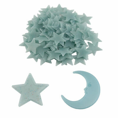 100x Glow Stars + 1x Moon In The Dark Star Plastic Stickers Ceiling Wall Bedroom