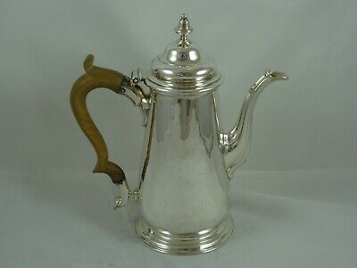 RARE, GEORGE II solid silver COFFEE POT, 1744, 684gm - Aymé Videau