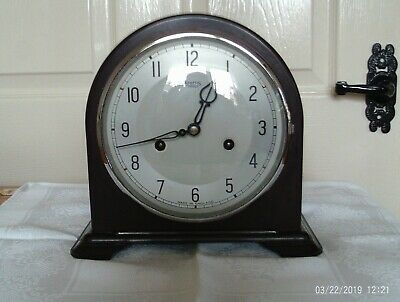 Smiths Enfield Bakelite Mantle Clock Working with  Pendulum and key