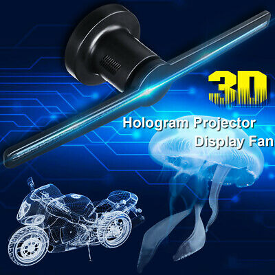 🇦🇺 LED 3D WiFi Holographic Projector Hologram Adavertising Display Fan