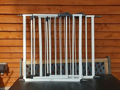 2 x Large  Metal Safety Gates: Stair or Door,  Adjustable
