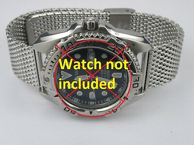 Mens Shark Mesh Heavy Duty Milanese Stainless Steel Watch Bracelet Strap 20/22mm