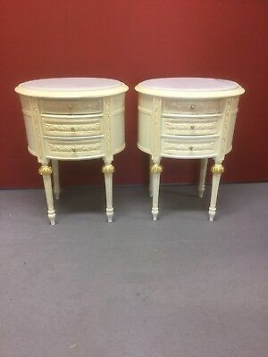 Pair Reproduction French Louis Style Bedside Cupboards / Drawers Sn-740
