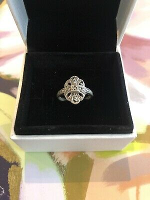 Vintage antique art deco sterling silver ring Small size