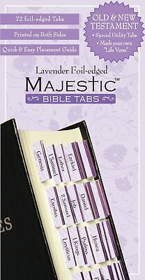 Bible Indexing Tabs Majestic Lavender Foil Edged Christian Books Religious New