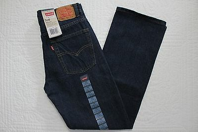 Boys Levis 550 Relaxed Fit Tapered Leg Jeans Sz 12 Slim Nwt Dk Crosshatch