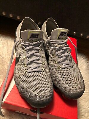 Nike Air VaporMax Flyknit 2 Wolf Grey Athletic Running Sneakers Shoes 11 Mens