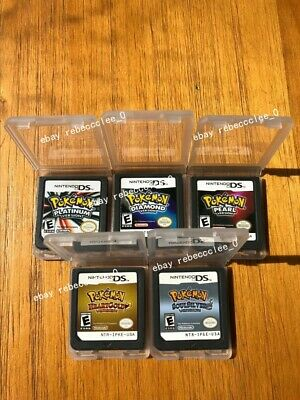 New 3DS NDS Lite Pokemon Platinum Diamond Pearl Heart Gold Game Cards Nintendo