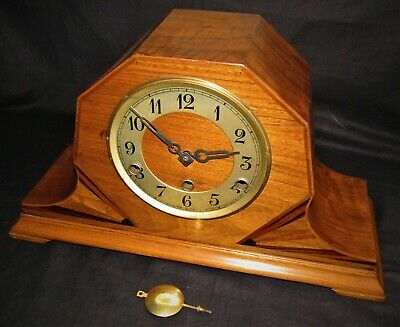 Delightful German Art Deco 1930's Westminster Chiming Mantle Clock. Junghans?