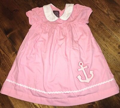 fda2b5a40ff Toddler Girls Lil Cactus Anchor Dress 12-24 Months Pink White Delta Gamma