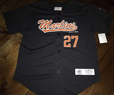 a4dc3a99d Giancarlo Stanton Kids Miami Marlins Black Jersey Boys Small 6 - 7 Youth