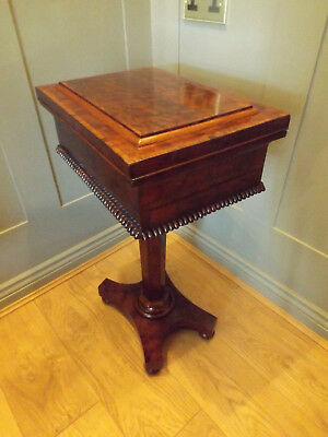 William Ivth. Plum Pudding Mahogany Work Table Or Side Table