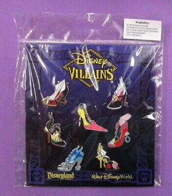 Disney Villain Designer Shoes Mini pins - Complete Set of 7 *NIP* Pin