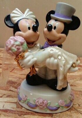 Disney Figurine Mickey & Minnie Wedding Disneyland Paris rare