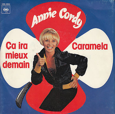 45Trs Vinyl 7''/ French Sp Annie Cordy / Ca Ira Mieux Demain