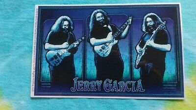 Grateful Dead Jerry Garcia Triptych 3.5 x 5.75 Inch Sticker