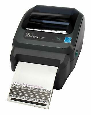 ZEBRA GX420D GX42-202512-000 Direct Thermal Barcode Label Printer USB Cutter