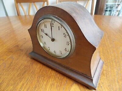 Vintage small Swiss Buren mantel clock,working but sold for restoration.