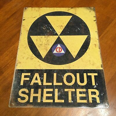 Fallout Shelter Distressed Metal Sign 12x16 - US SELLER