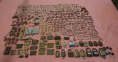Huge Joblot Old Vintage Antique Keys Locks Furniture Cabinet Doors Etc