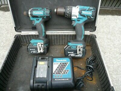 MAKITA DHP481 BRUSHLESS DRILL DTD152 IMPACT  2 4ah BATTERIES , CHARGER & CASE