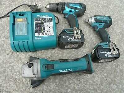 Makita 3 Piece Set  With 2 Batteries & Fast Charger