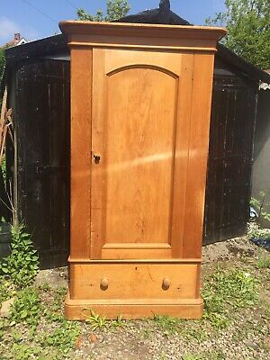 Antique Pine Wardrobe circa 1900