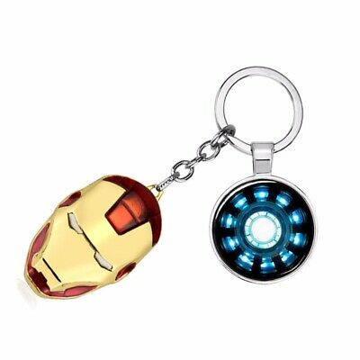 Iron Man Reactor Energy Block Core Metal Keychain With Iron Man Mask Gift Toy