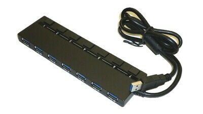 Monoprice USB 3.0 7-port Switch Hub, with AC Adapter Plug and Play 21787