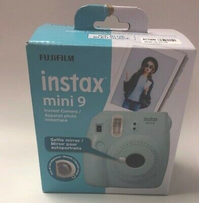 FUJIFILM Instax Mini 9 Ice Blue Instant Film Camera BRAND NEW