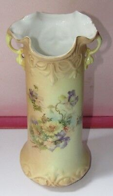 Antique Vienna or Prussian Cylinder  Two-handled Vase