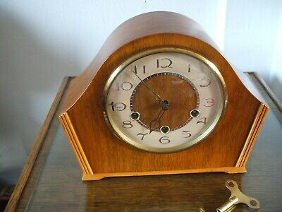 Smiths Vintage Late Art Deco 8 Day Westminster Chime Mantle Clock V G C 1950S