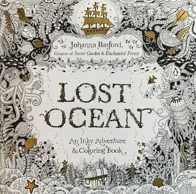 Lost Ocean: An Inky Adventure and Colouring Book by Johanna Basford - paperback