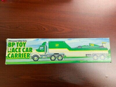 1993 BP Toy Race Car Carrier Truck Trailer - Limited Edition Series