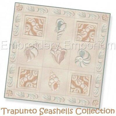 Trapunto Seashells Collection - Machine Embroidery Designs On Cd Or Usb