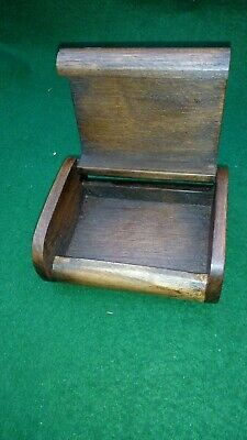 Antique / Vintage Wooden Art Deco Desk Top Box With Rounded Edges
