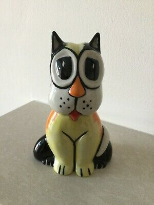 CLIFFORD - Lorna Bailey Pottery Stoke on Trent England Signed Cat - CLIFFORD