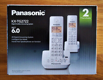 Panasonic KX-TG2722 Digital Cordless Answering System w/ 2 Handsets - Pre-Owned!
