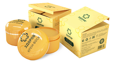 Russian Cream-wax zdorov bee propolis - joints pain relief 100% Natural ingredie