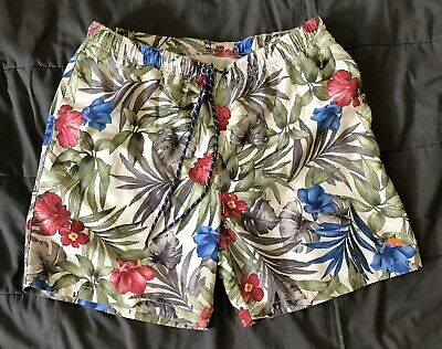 97d4872890 Mens Tommy Bahama Relax Trunks Bathing Suit Swim Shorts L Tropical Ship Free