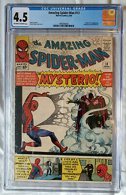 Amazing Spider-Man 13 CGC 4.5 Marvel 1964 Origin & 1st Mysterio - Quentin Beck