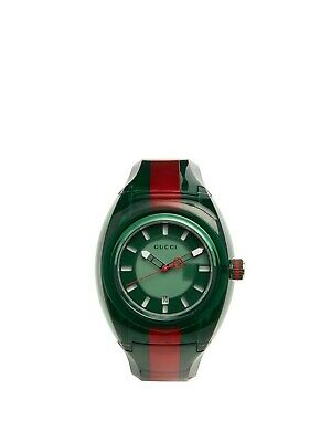 7f3ddfd6e49 GUCCI Sync XXL 46MM Green Dial Men s Two Tone Green Red Rubber Watch  (YA137113